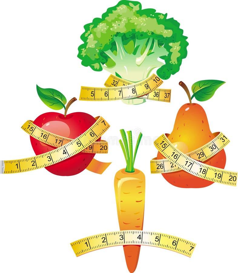 评定的磁带蔬菜 向量例证