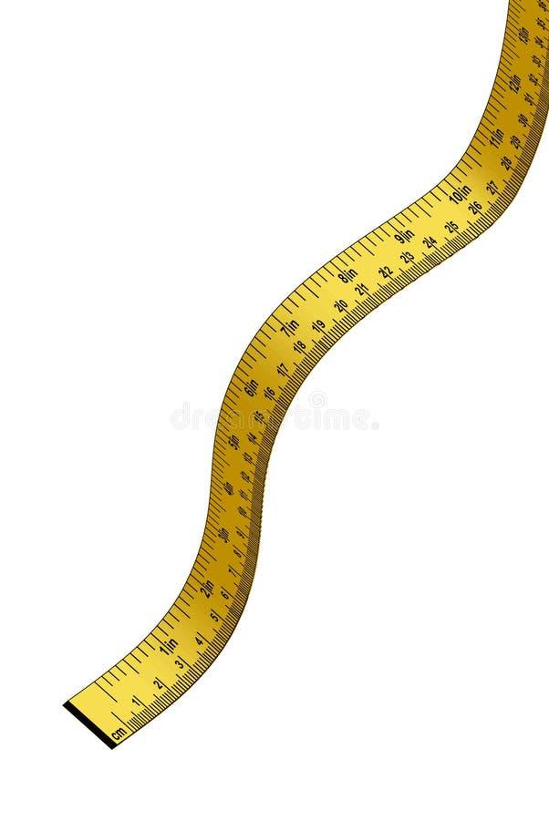 评定的磁带黄色 向量例证