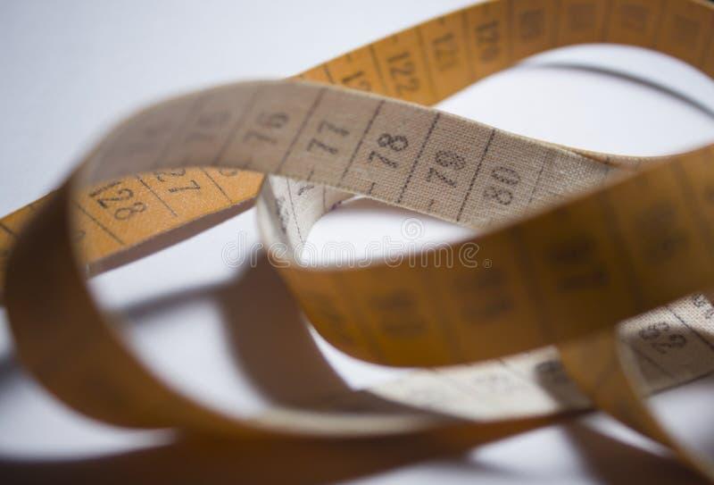 评定的磁带 橙色颜色 免版税库存图片