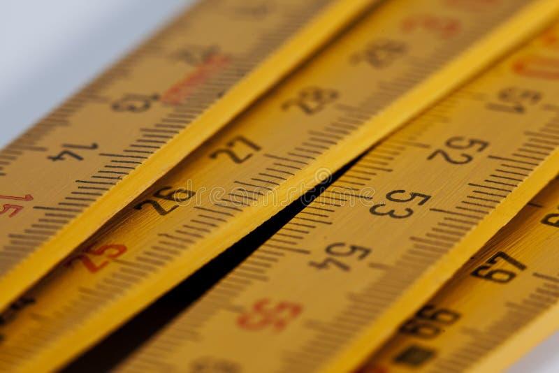 评定米磁带 免版税图库摄影