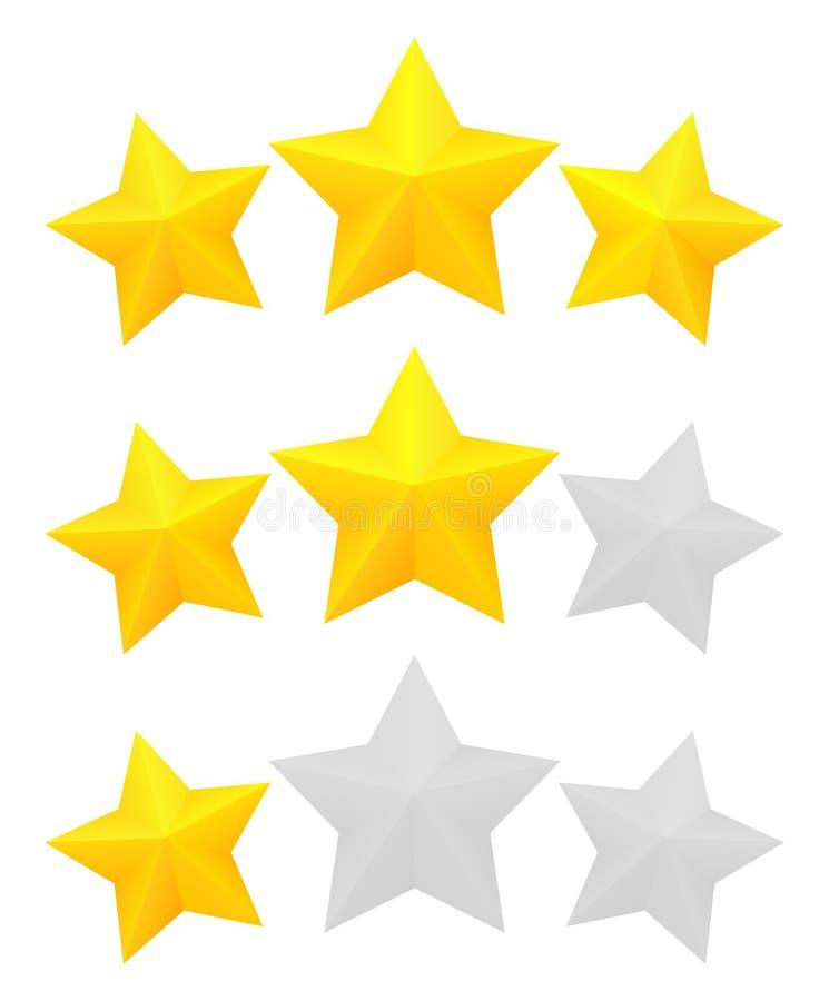 评级星形三 库存例证