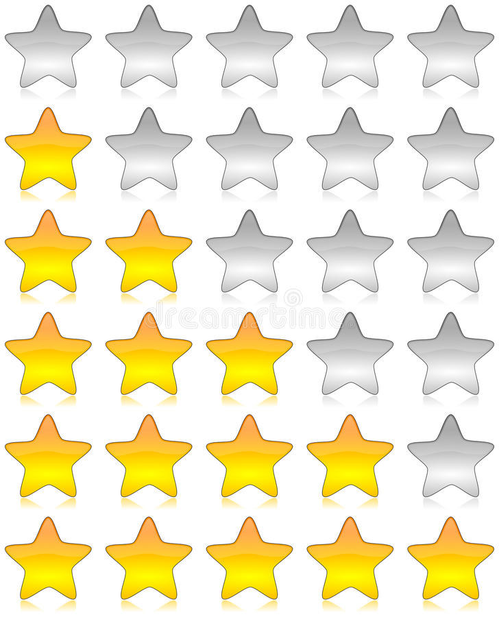 评级星形调查 向量例证