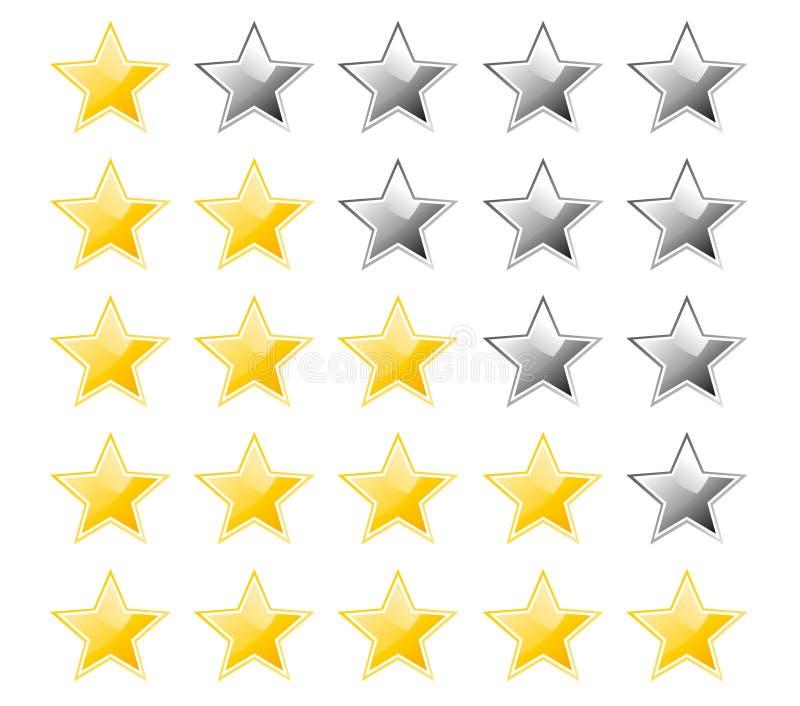 评级星形 向量例证