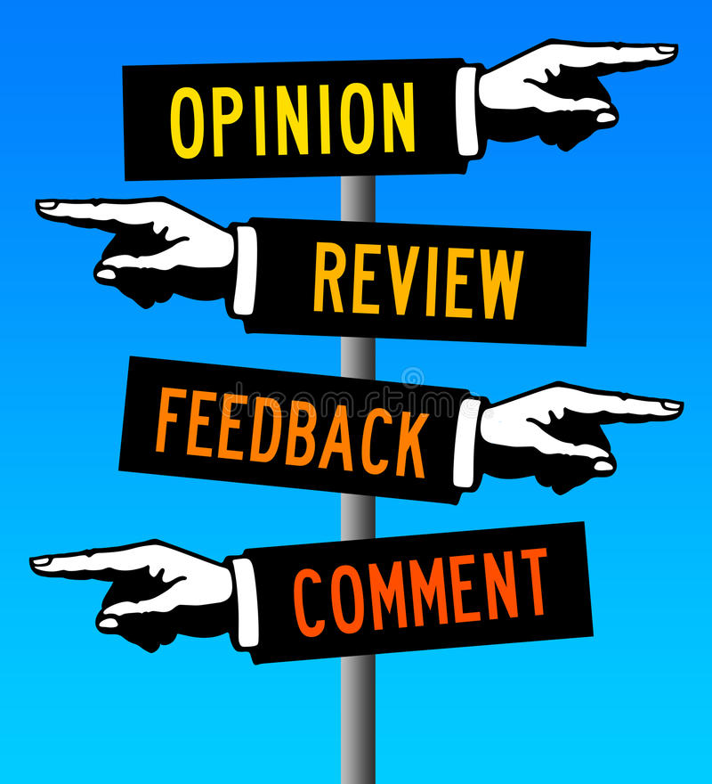 评论和反馈 库存例证