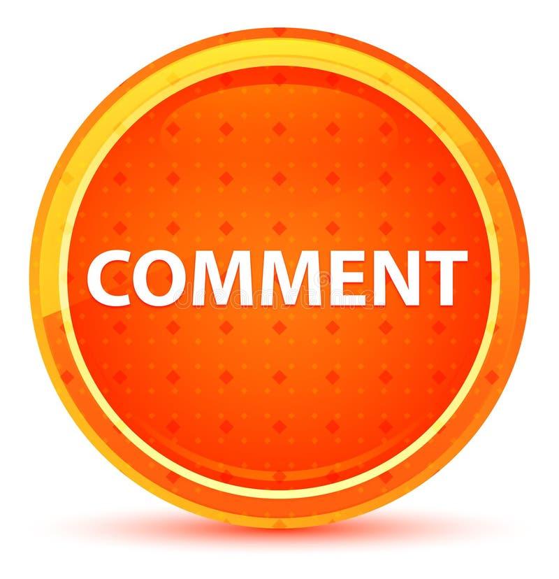 评论自然橙色圆的按钮 皇族释放例证