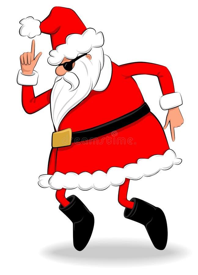 识别不明飞机圣诞老人 库存例证