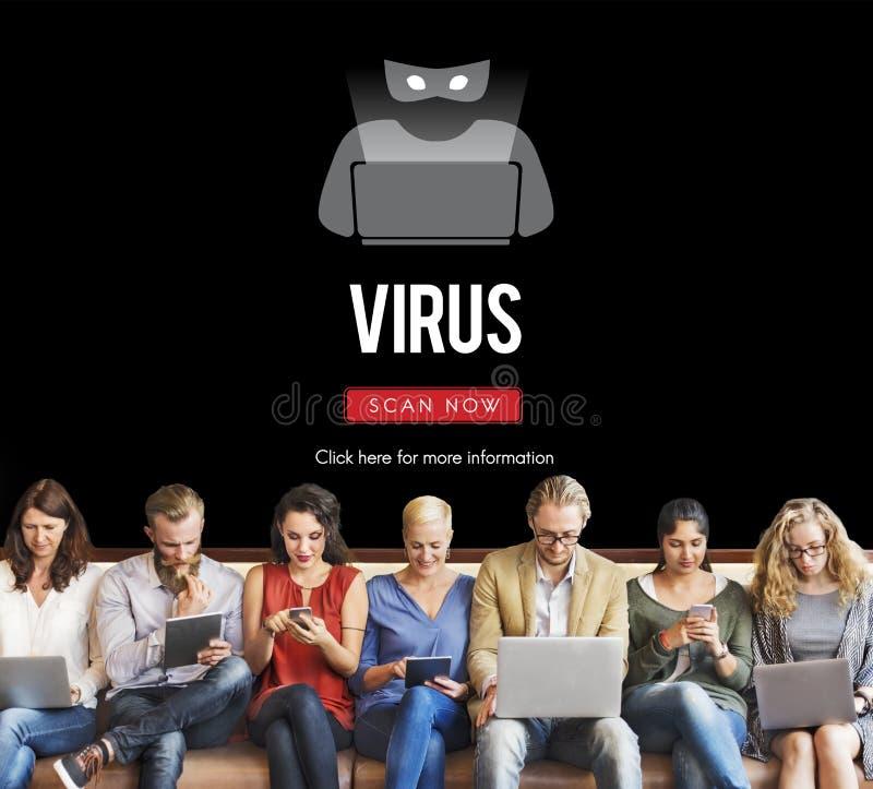 诈欺病毒间谍软件Malware抗病毒概念 库存图片