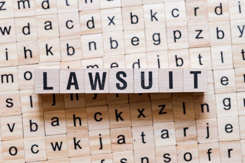 诉讼词概念 库存图片