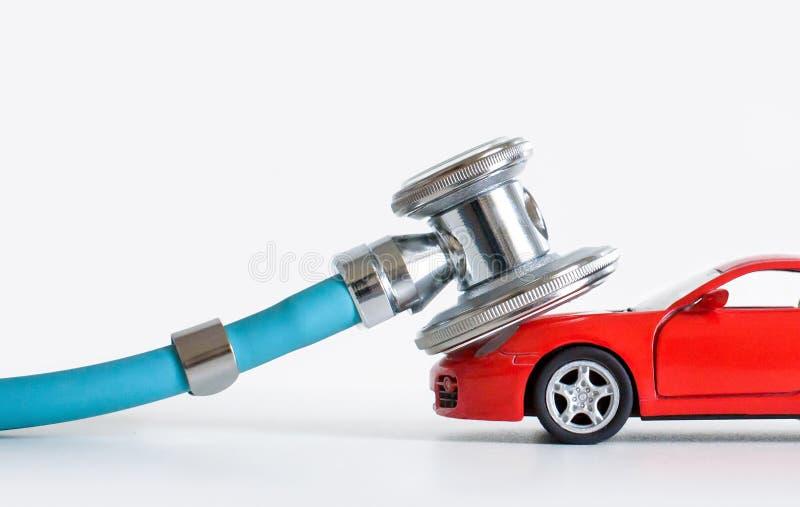 诊断和汽车修理、听诊器、检查、修理和维护 库存照片