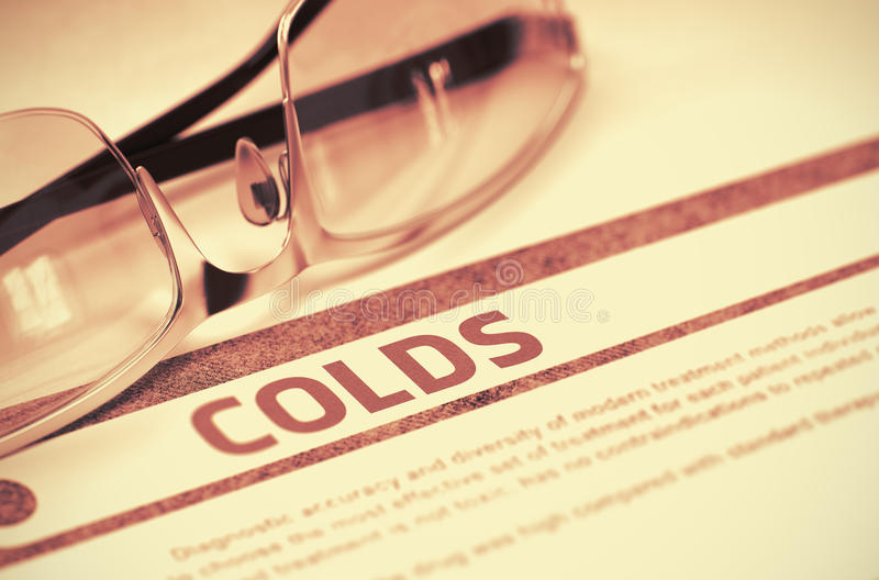 诊断-寒冷 医疗概念 3d例证 皇族释放例证
