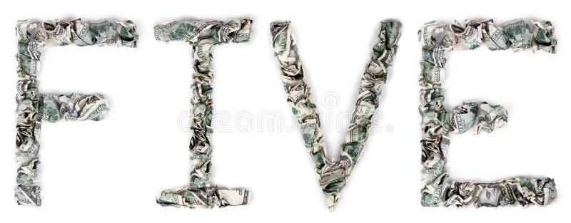 五-起皱的100$票据 图库摄影