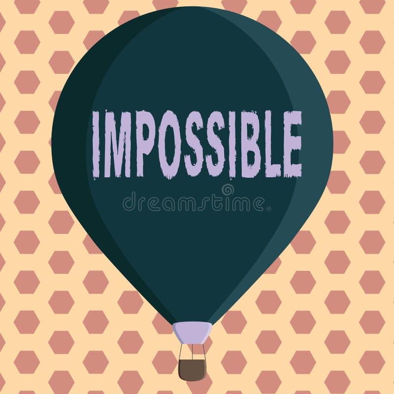 词不可能文字的文本 不能的企业概念能发生存在或是完成的困难挑战性 库存例证