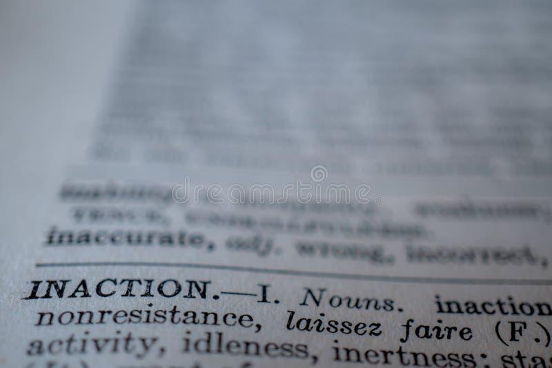 词不活动的特写镜头 免版税库存照片