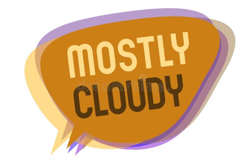 词主要多云文字的文本 朦胧的蒸汽有雾的蓬松暧昧云彩Skyscape讲话泡影想法的企业概念我 皇族释放例证