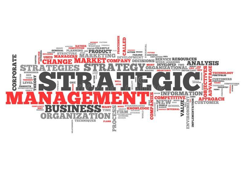 词云彩战略管理 向量例证
