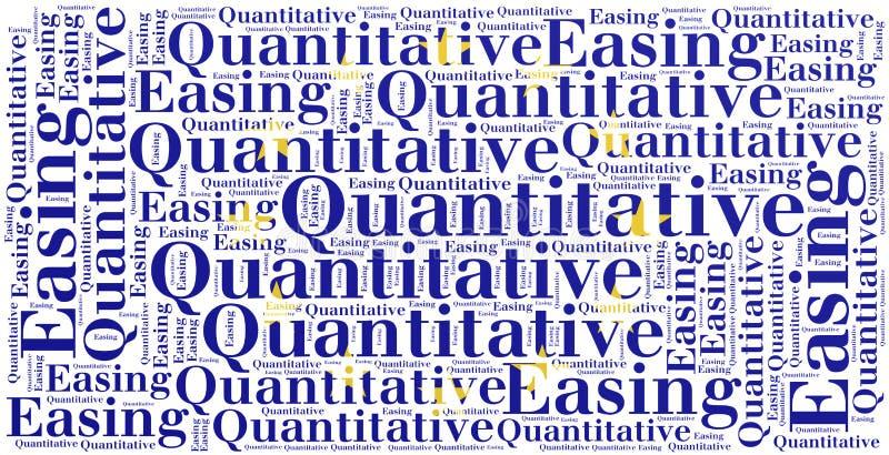 词云彩概念与定量缓和有关 库存例证