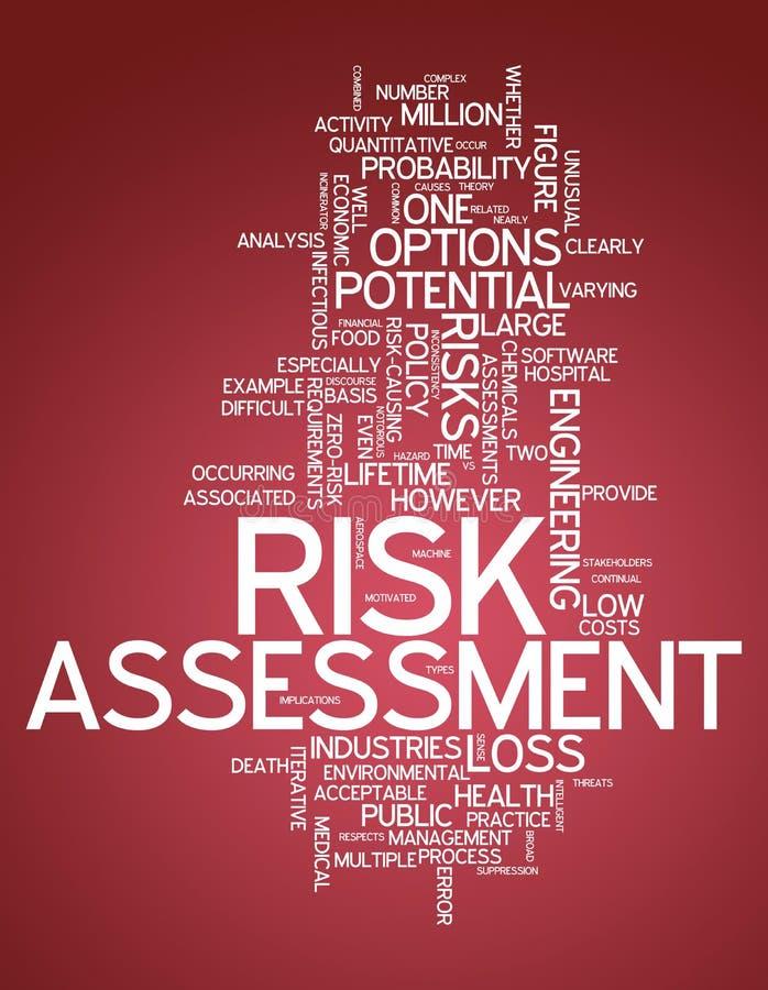 词云彩风险评估 向量例证