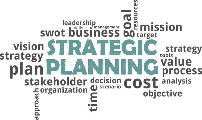 词云彩-战略计划 向量例证