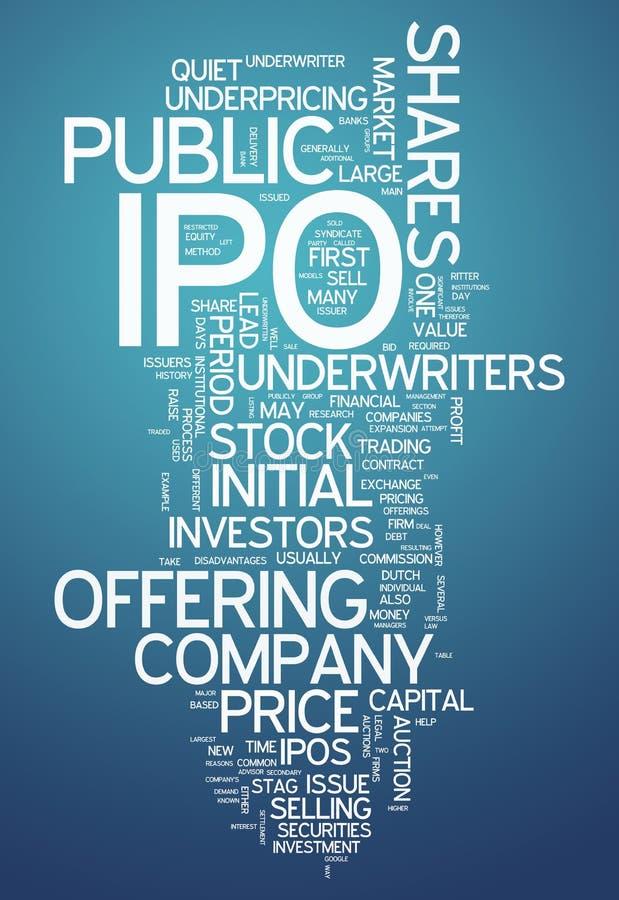词云彩IPO 向量例证