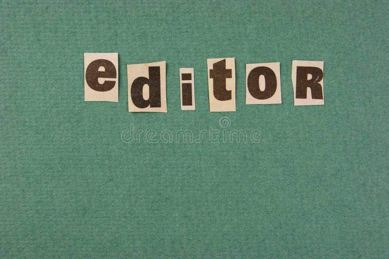 词从报纸的编辑裁减 库存图片