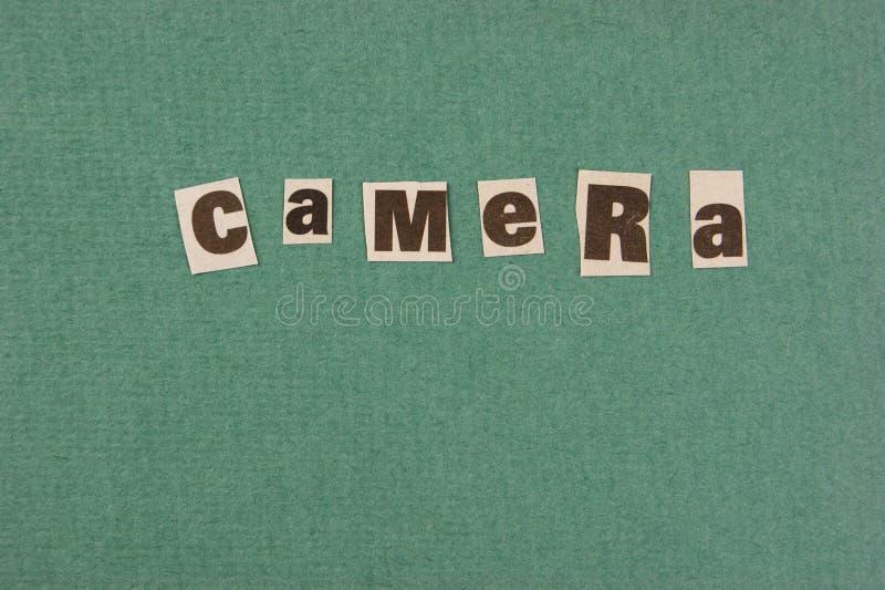 词从报纸的cemera裁减 图库摄影