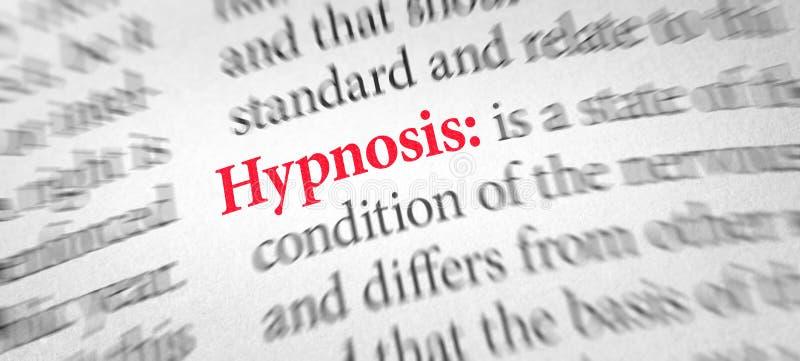 词催眠状态的定义在字典的 免版税库存图片