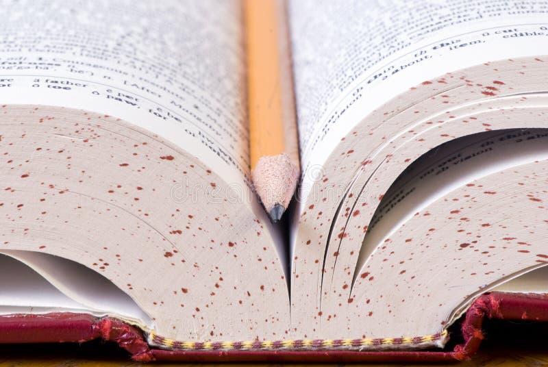词典铅笔 库存图片
