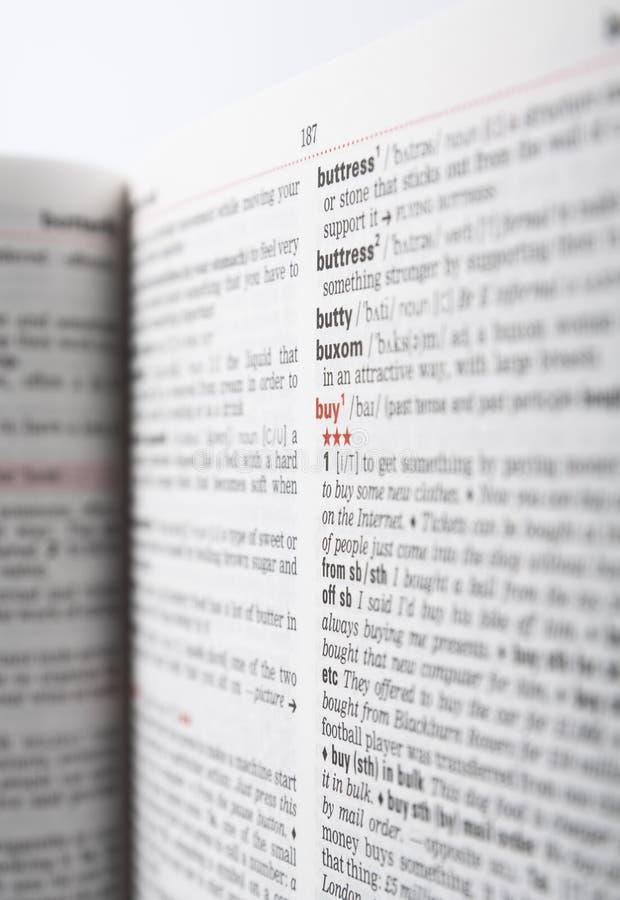 词典页 免版税库存图片