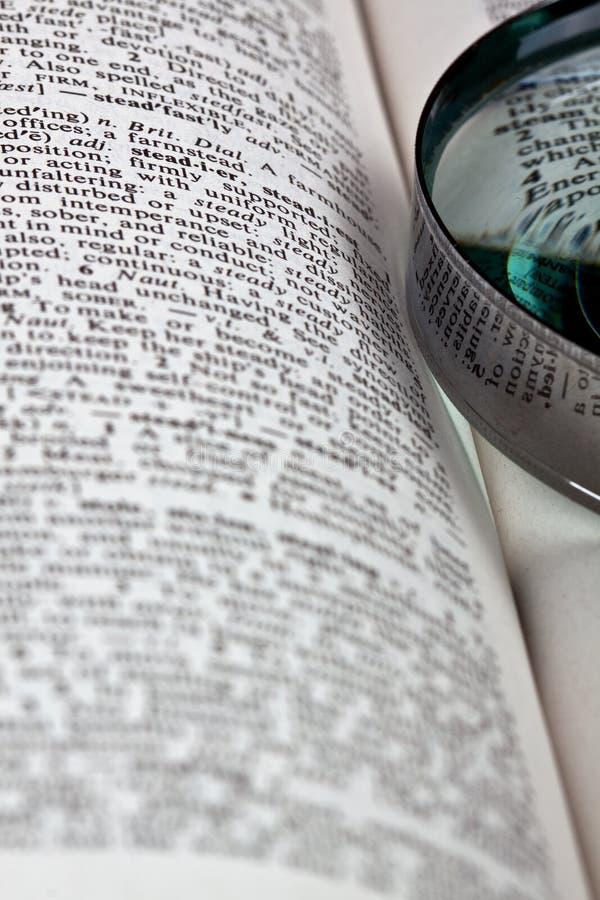 词典magnifer 库存照片