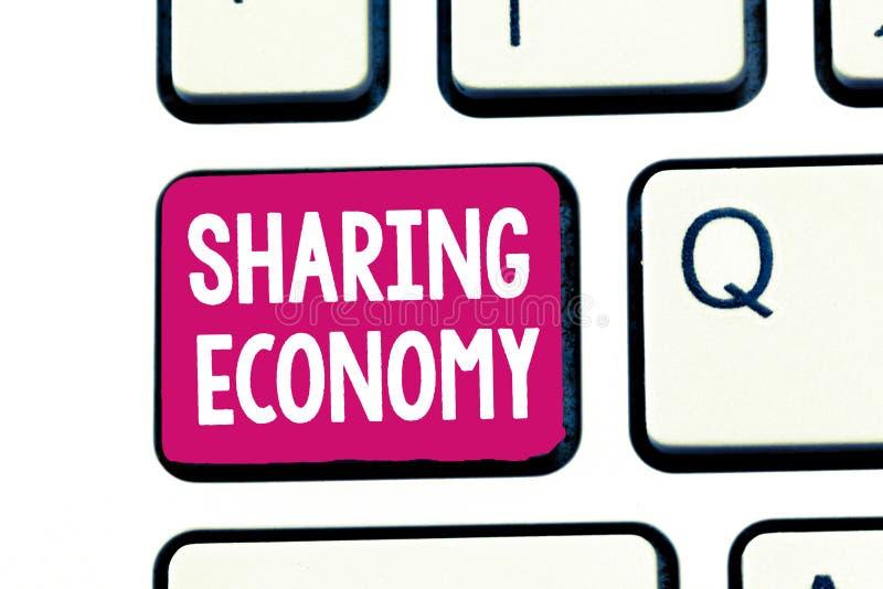 词分享经济的文字文本 根据提供存取的经济模式的企业概念对于物品 库存照片