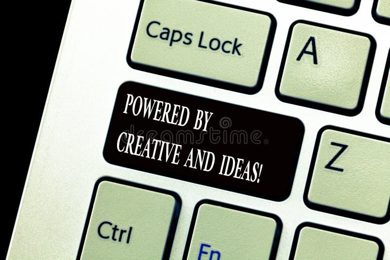 词创造性和想法供给动力的文字文本 强有力的创造性创新好能量的企业概念 免版税库存图片