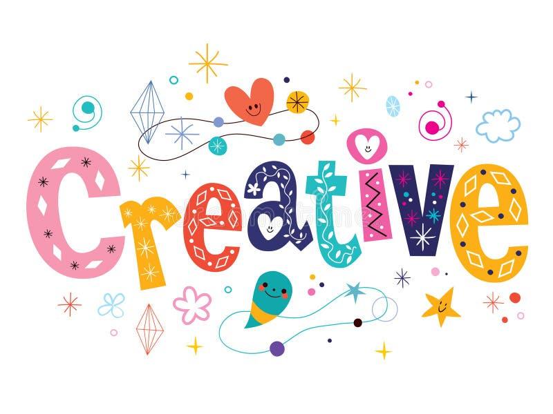 词创造性的装饰类型字法文本设计 库存例证