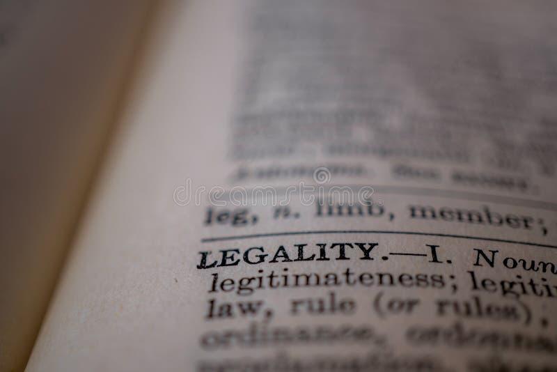 词合法的特写镜头 免版税图库摄影