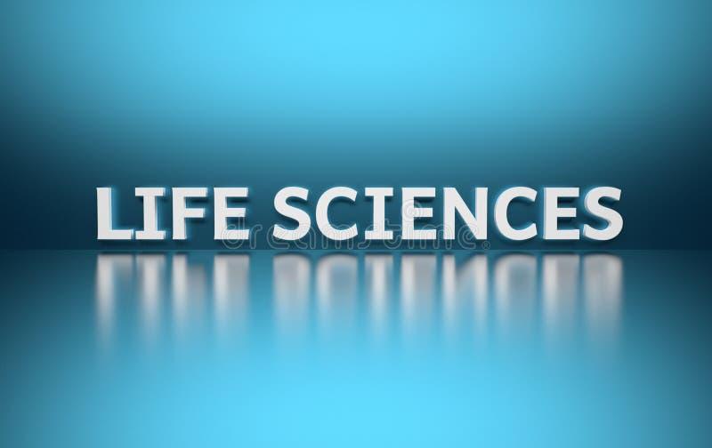 词在白色写的生命科学 向量例证