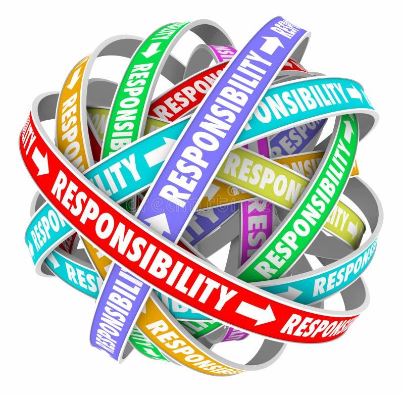 责任词委派的通过工作任务责任 库存例证