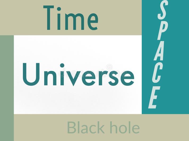 词宇宙时间空间blackhole 库存图片
