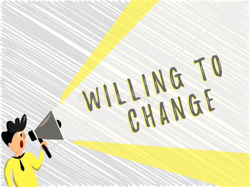 词愿文字的文本改变 欲望的企业概念能增长热切赞成和采取新的想法 库存例证