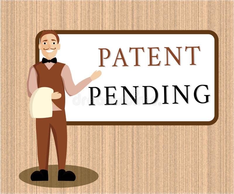 词文字专利审理文本的 已经提出,但是不被授予的请求的企业概念追求保护 皇族释放例证