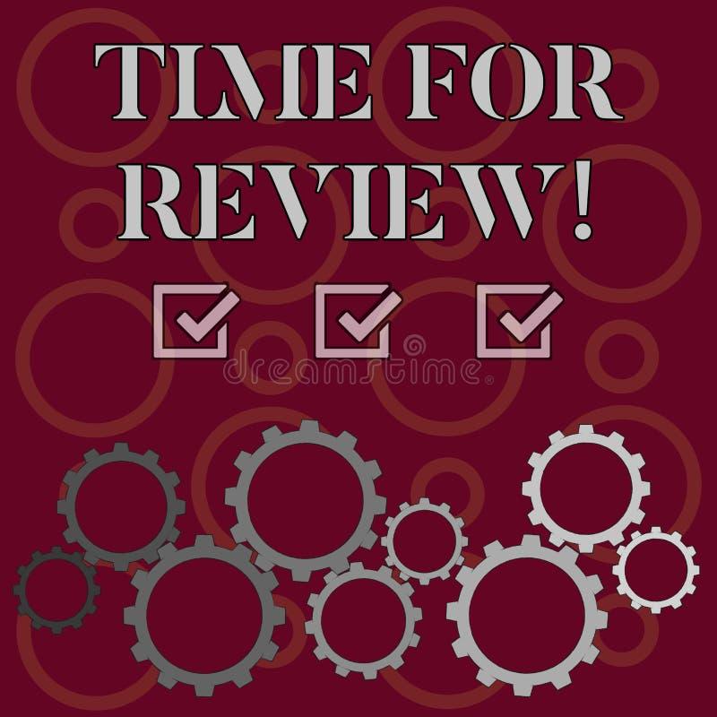词文字回顾的文本时间 对某事的正式评估的企业概念与设立变动的意图 库存例证