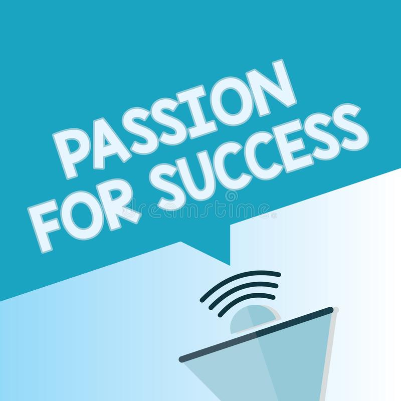 词文字成功的文本激情 热情热忱推进刺激精神概念的企业概念 向量例证