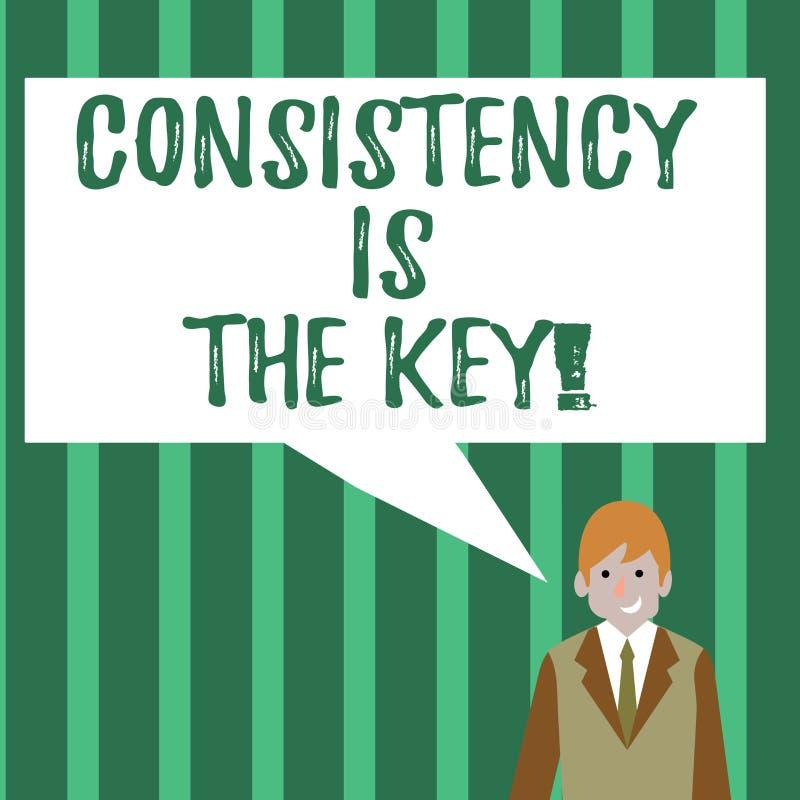 词文字文本一贯性是钥匙 通过改变恶习和形成的好那些企业概念商人 库存例证