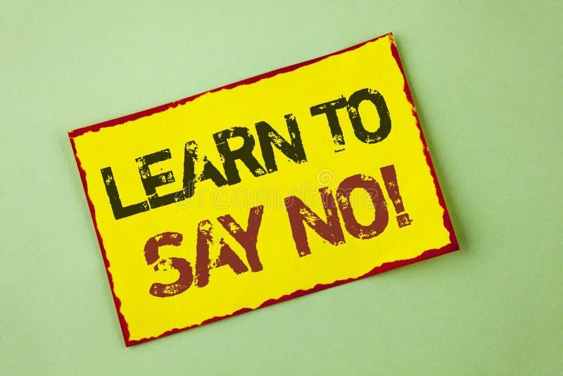 词文字文本不学会说诱导电话 鼓励忠告的企业概念打翻在Yel写的道德价值 库存图片