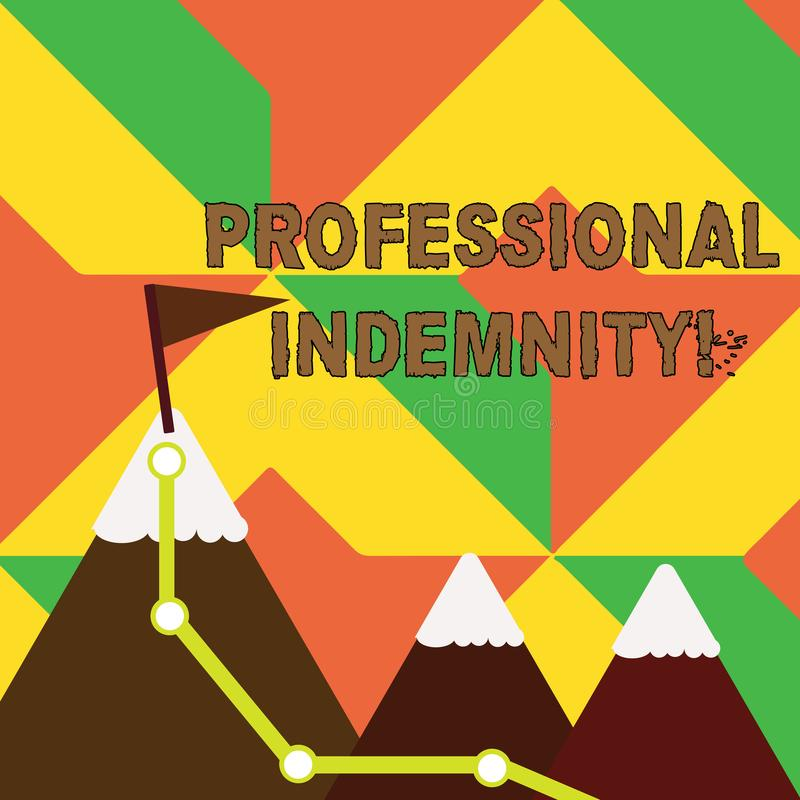 词文字文本专业赔偿 承担法律费用和费用三的保险的企业概念 向量例证