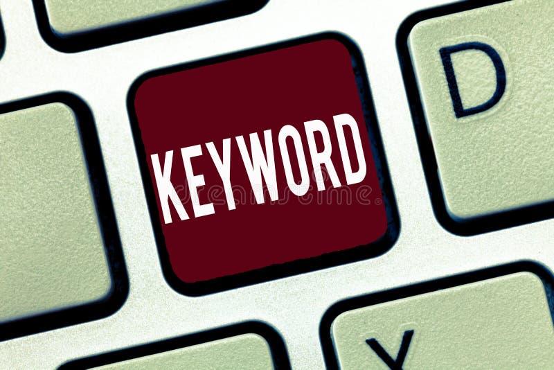 词文字文本主题词 词概念的企业概念与伟大意义重要销售方针 库存照片