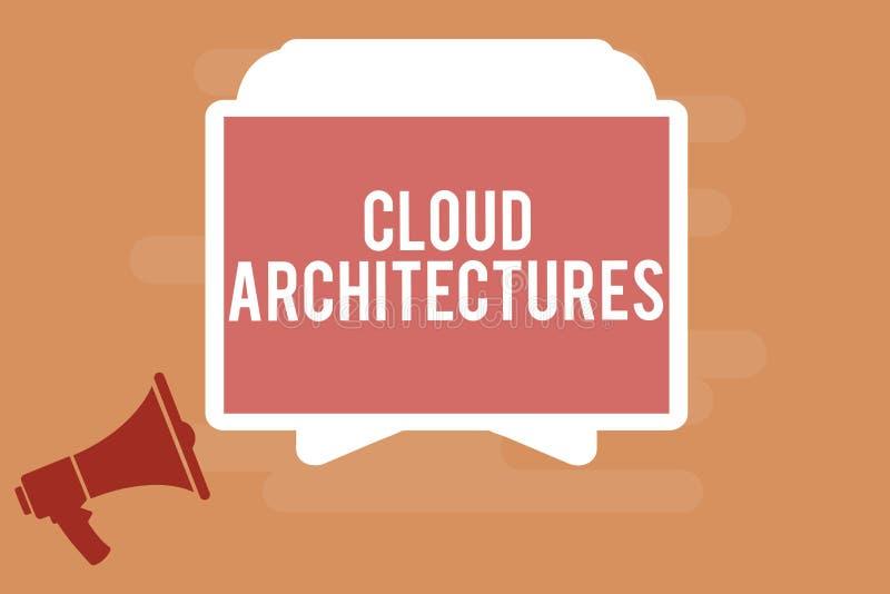 词文字文本云彩建筑学 各种各样的设计的数据库软件应用的企业概念 库存例证