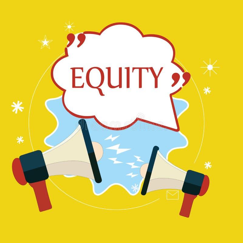 词文字文本产权 公司的价值的企业概念划分了成股东拥有的相等的零件 库存例证