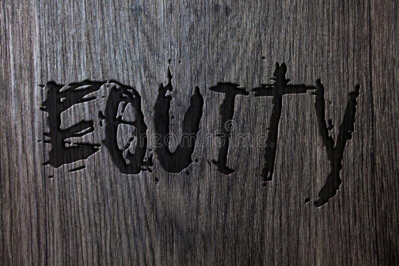 词文字文本产权 公司的价值的企业概念划分了成股东木木backg拥有的相等的零件 免版税库存图片