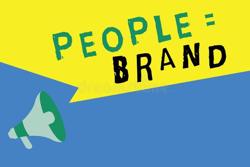 词文字文本人均等品牌 个人烙记的定义的个性的企业概念通过标签 库存例证