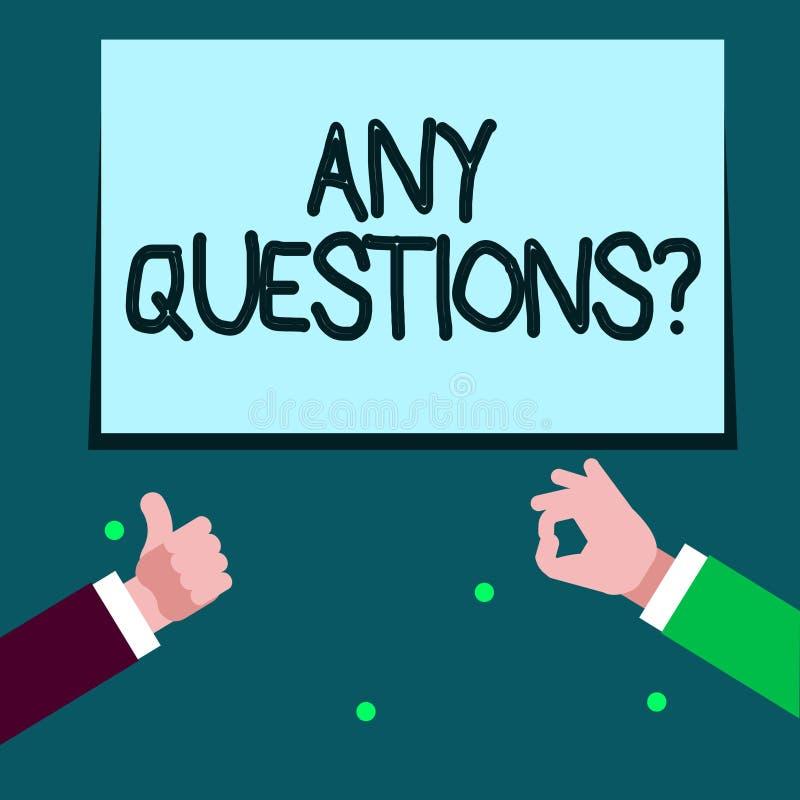 词文字文本任何问题问题 您的企业概念说写命令询问展示某事 皇族释放例证