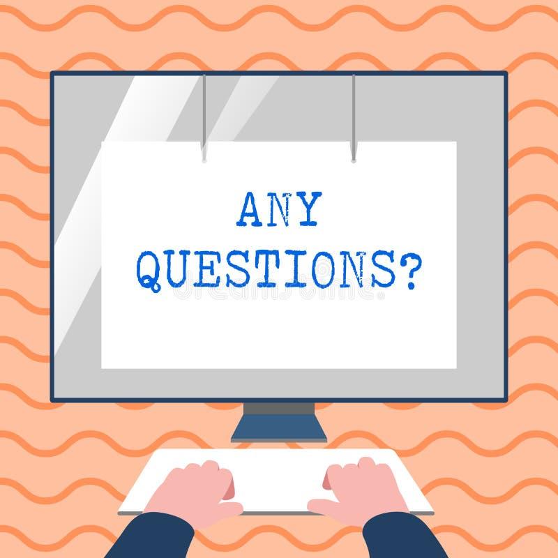 词文字文本任何问题问题 您的企业概念说写命令询问展示某事 库存例证